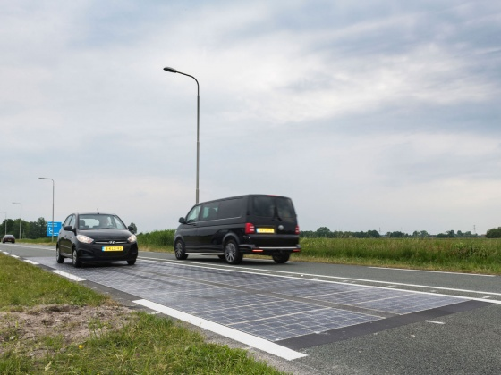 Wattway: solar panels in road surface