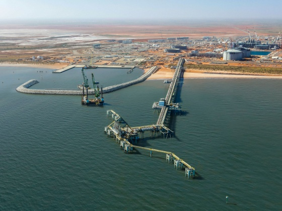 Wheatstone LNG jetty