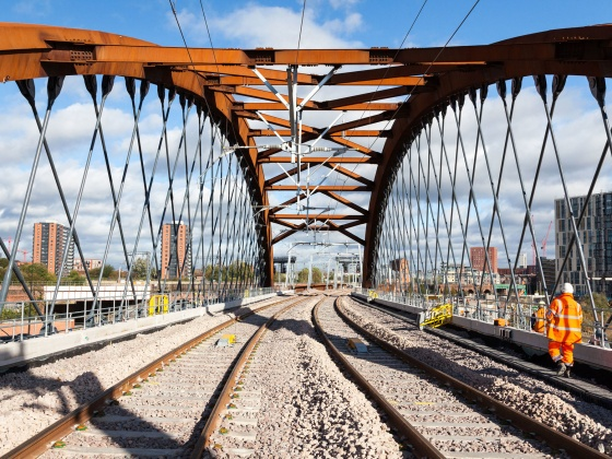 Ordsall Chord – UK's first rail asymmetric bridge