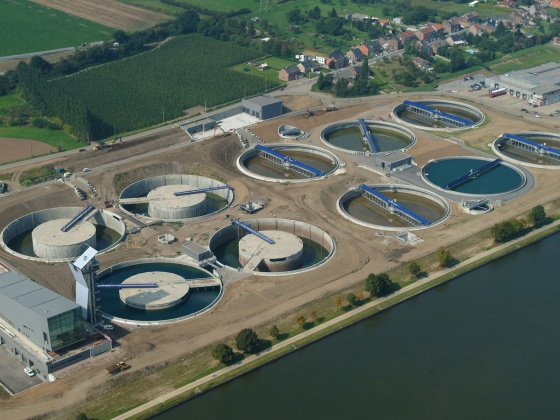 Wastewater plant Hermalle