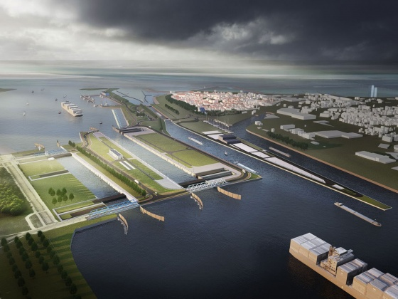 New sea lock Terneuzen