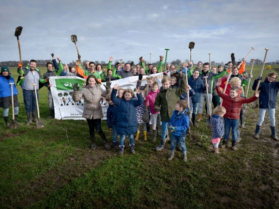 BAM plants trees in the Netherlands